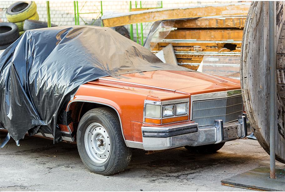 Half Covered Car